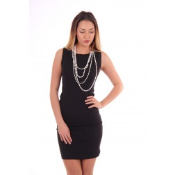 Fracomina dress met parelketting