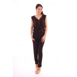 By Danie jumpsuit studs in black