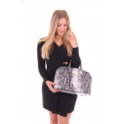 G.sel Lonny bag in zwart-witte snakeprint