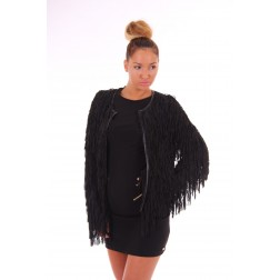 Its Given Rosie Jacket met franjes
