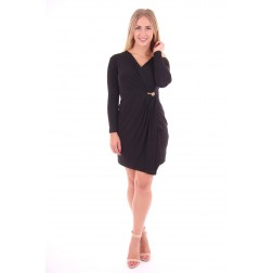 Gedrapeerde Glamorous denice dress in zwart