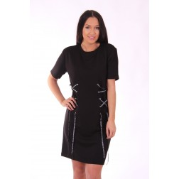 Supertrash Dafne lace up dress