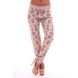 LOST broek in leopard - cream
