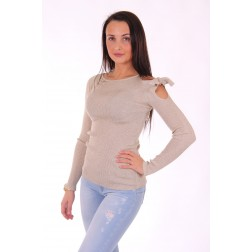 Liu Jo Eclipse jumper in gold - open shoulder