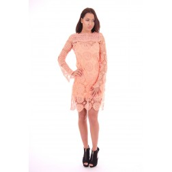 Labee-a-porter Lace dress in peach
