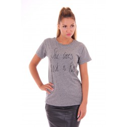 By Danie Rock & Roll shirt in grey