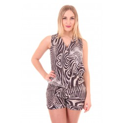 G.sel playsuit in zebra: Safari