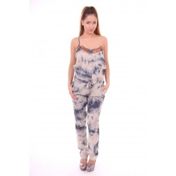 By Danie Tye-Dye jumpsuit in faded bleu