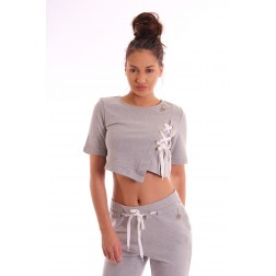 Relish Shortie sweatshirt met veter