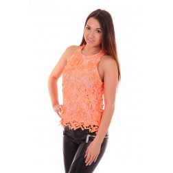 Jacky Luxury top van kant in papaya