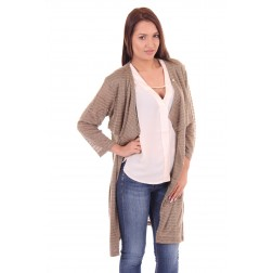 its Given vest Amber in taupe