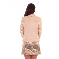 Glamorous jacket Cassiopeia in suéde