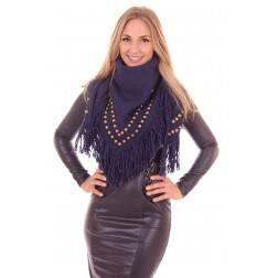 Studded B.loved sjaal in blauw