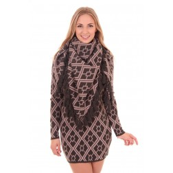 B.loved scarf met klosjes in army