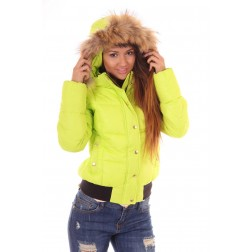 Nickelson Amoen winterjas in green lime
