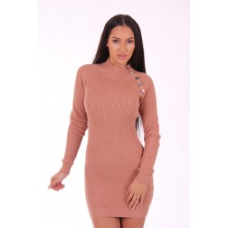 Jacky Luxury sweaterdress in powder