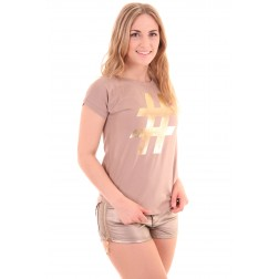 Josh V Lyla shirt in Sand, Sahara Collection