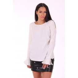 Supertrash Blair tunic blouse in offwhite