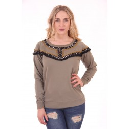 By Danie Mirror sweater in armygreen