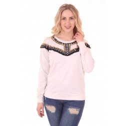 By Danie Mirror sweater in white