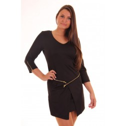 Jacky Luxury dress in zwart met ritsjes