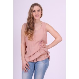 G.sel top; chain top in nude