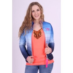 Nickelson jacket, Mina in blauw-roze