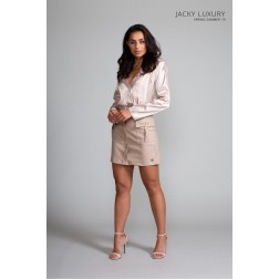 Jacky Luxury body met revers in nude