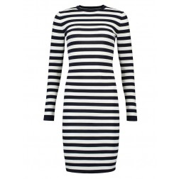 Nikkie Jolie dress in black & white stripes