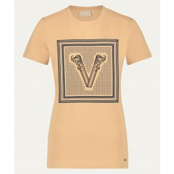 Josh V Zoe Branded V t-shirt in desert