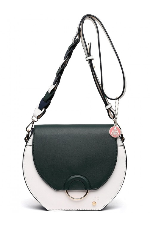 TRC crossbody tas colorblock - olive
