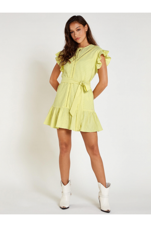 Josh V Reyhan dress in lemon grass