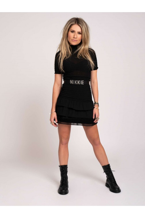 Nikkie Francy smock dress in zwart
