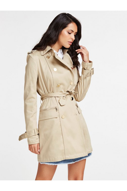 Guess Christina trench met gouden knopen