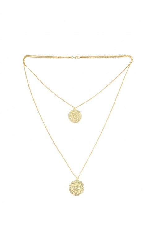 Nikkie necklace - Coins in goud