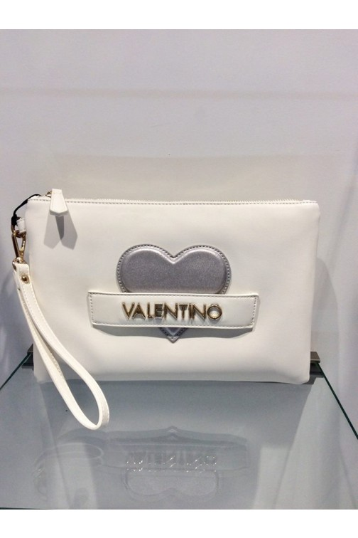 Valentino CoCo clutch in wit - silver heart