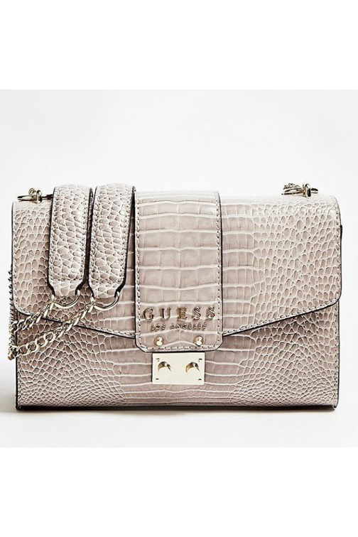 Guess Kamryn Cleo bag in shell kroko