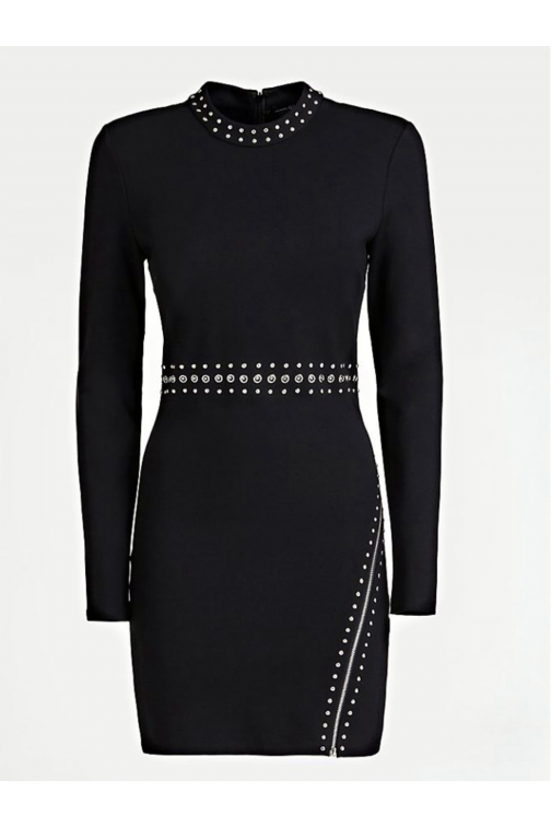 Guess Racquel dress met studs in zwart