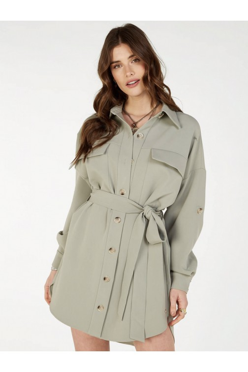 Josh V Renie blouse-jurk in stone green