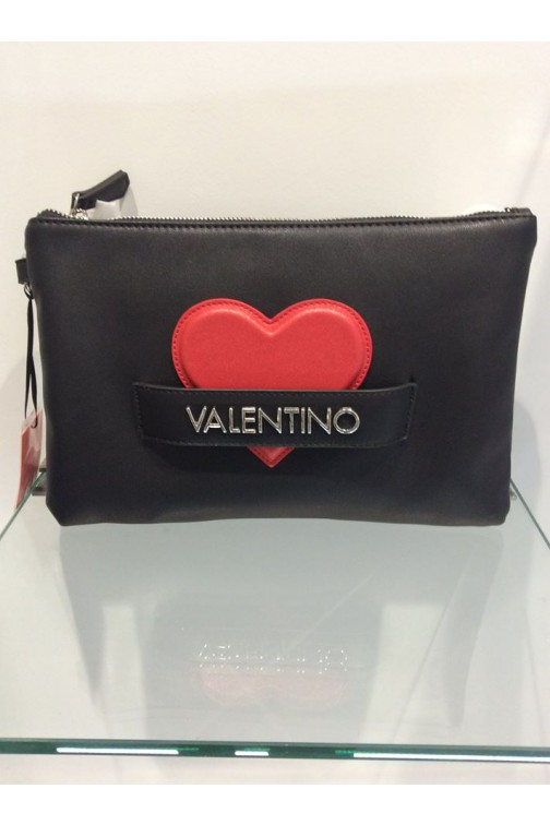 Valentino CoCo clutch in zwart - red heart