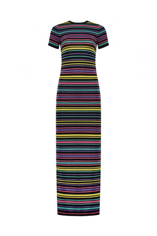 Nikkie stripe maxidress - Rainbow