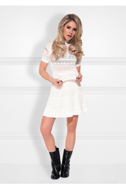 Nikkie June's Combi dress in off-white