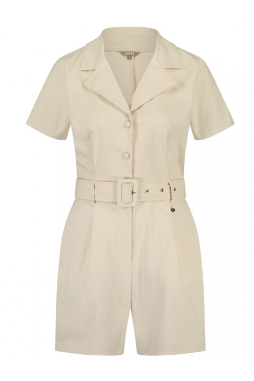 Its Given Loraine Playsuit in beige
