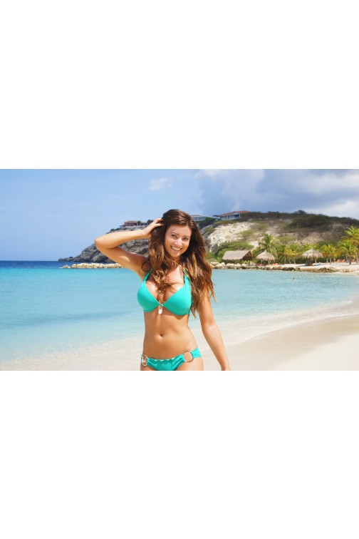 Boho bikini Exclusive Brazilian bikini bottom in smaragd green