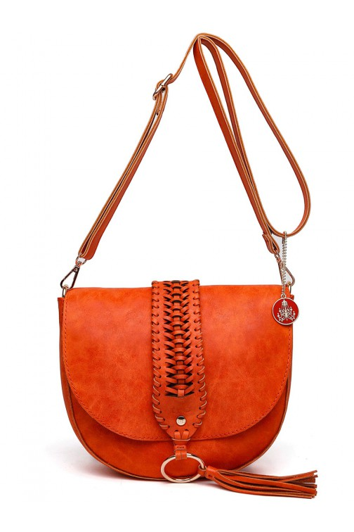 TRC Boho crossbody tas met tassel - orange