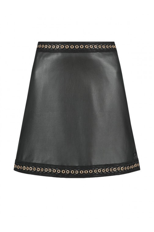 Nikkie Macha skirt in zwart leer
