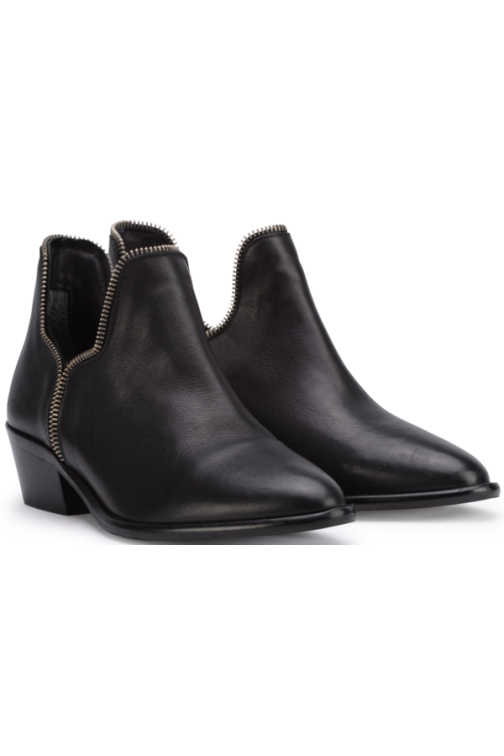 So Jamie Day zipper booties in zwart