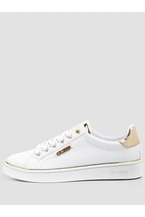 Guess Beckie sneakers in wit met goud