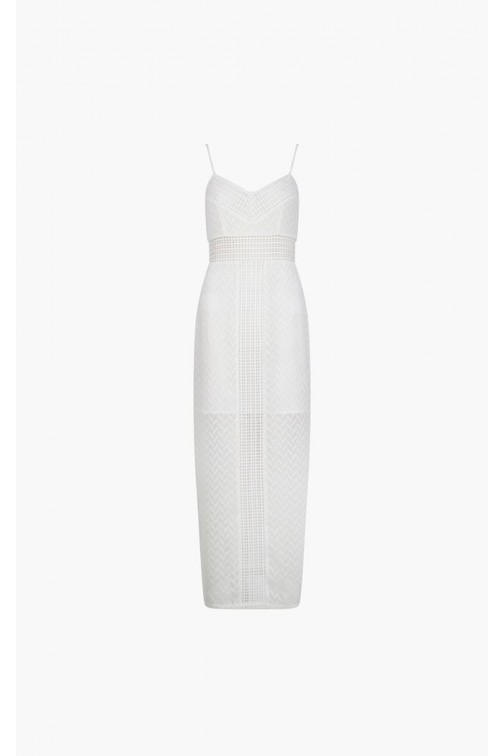 Supertrash Deja maxidress in wit