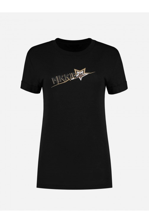 Nikkie Star t-shirt in zwart